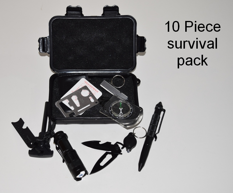 The compact 10 piece survival pack