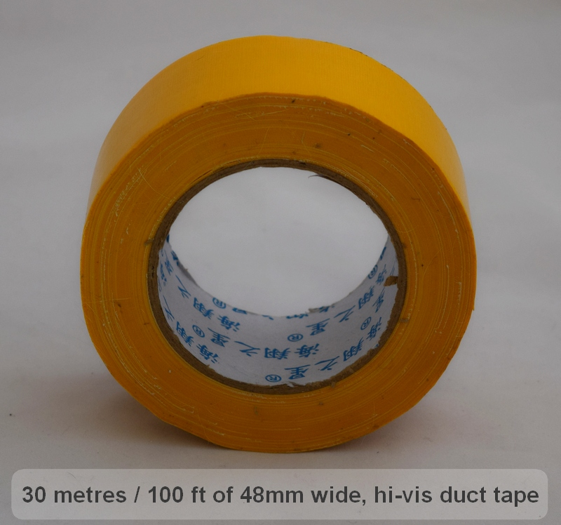 Bright, strong duct tape is an essential part of any survival kit