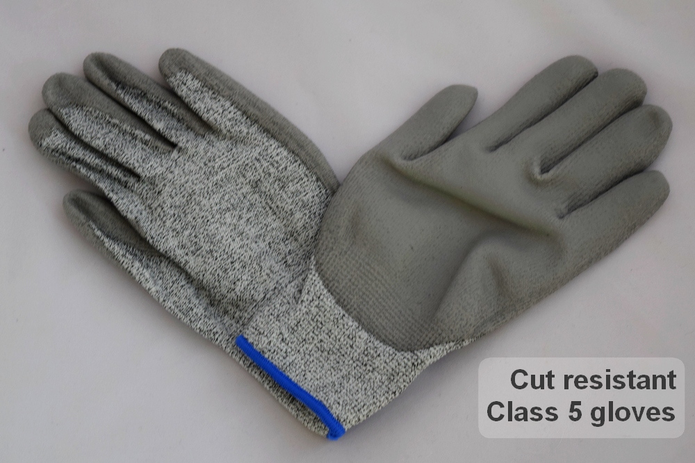 Class 5 cut resistant gloves provide the best possible hand protection without constraining flexibility
