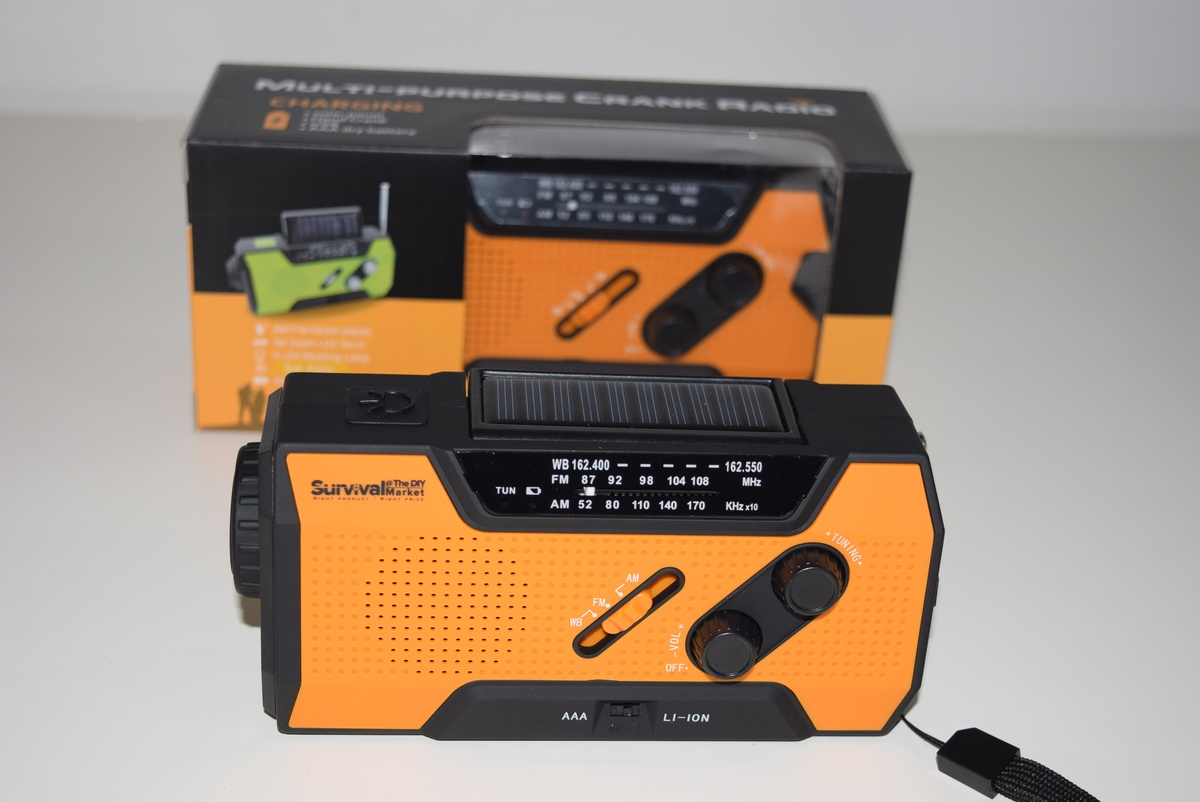 Emergency survival radio - quad powered