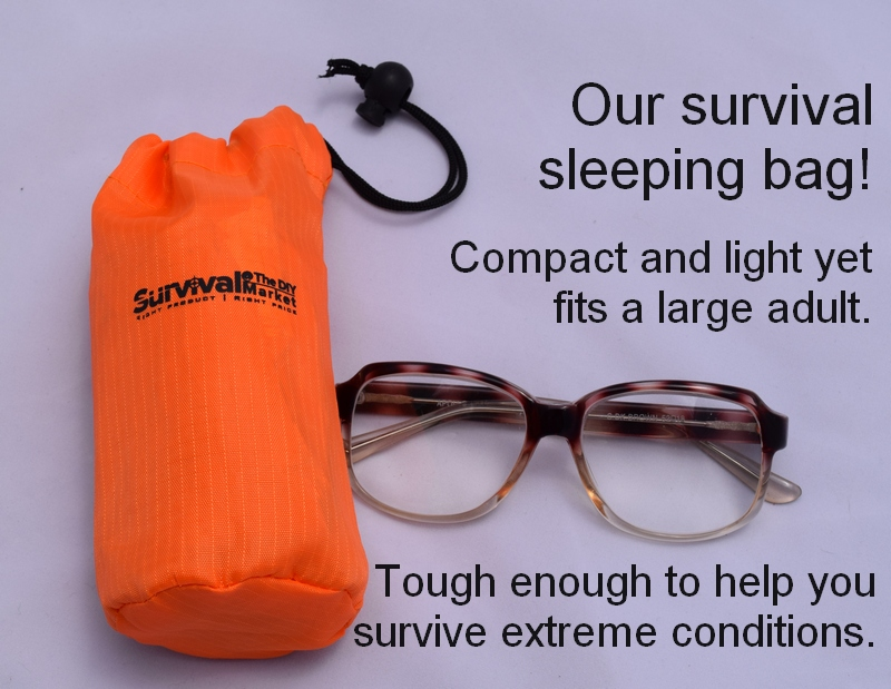 Our emergency sleeping bags. Tiny but tough!