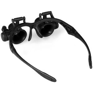 9892GJ 10X 15X 20X 25X Watch Repair Magnifier with 2 LED Lights
