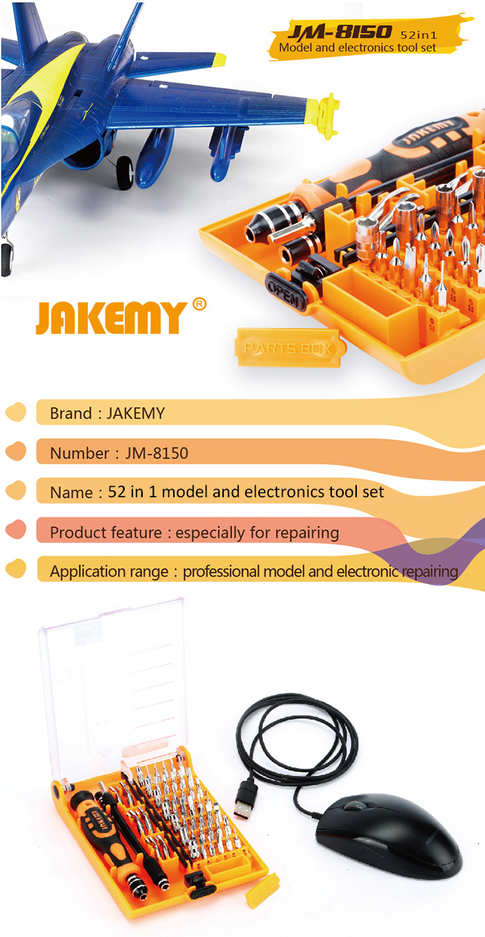 JAKEMY JM-8150 Screwdriver Tools Set - 52 in 1