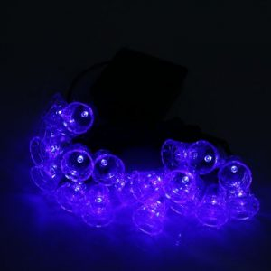 20 LEDs Bell Shaped Solar Powered String Light Outdoor Garden Festival Party Decoration Lamp