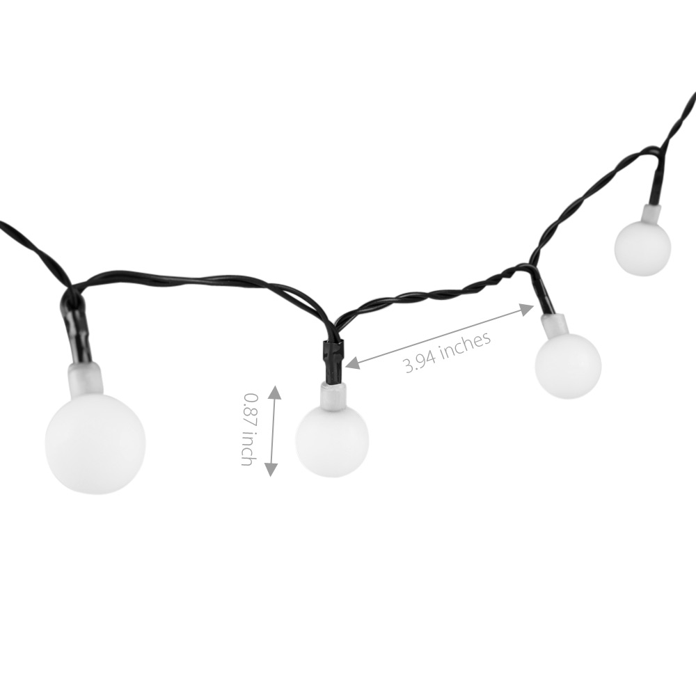 50-LED Light String Battery Operated Outdoor for Christmas Holiday
