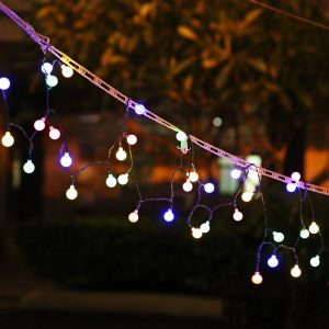 50-LED Battery Operated Light String for Garden Christmas
