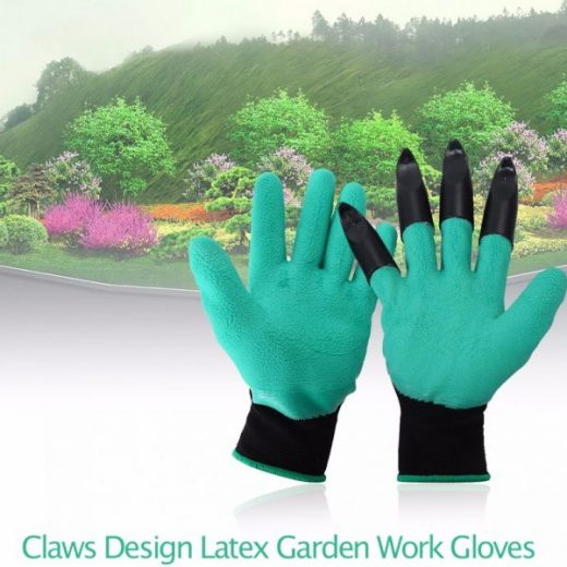 1 Pair Claws Design Latex Garden Work Gloves for Digging