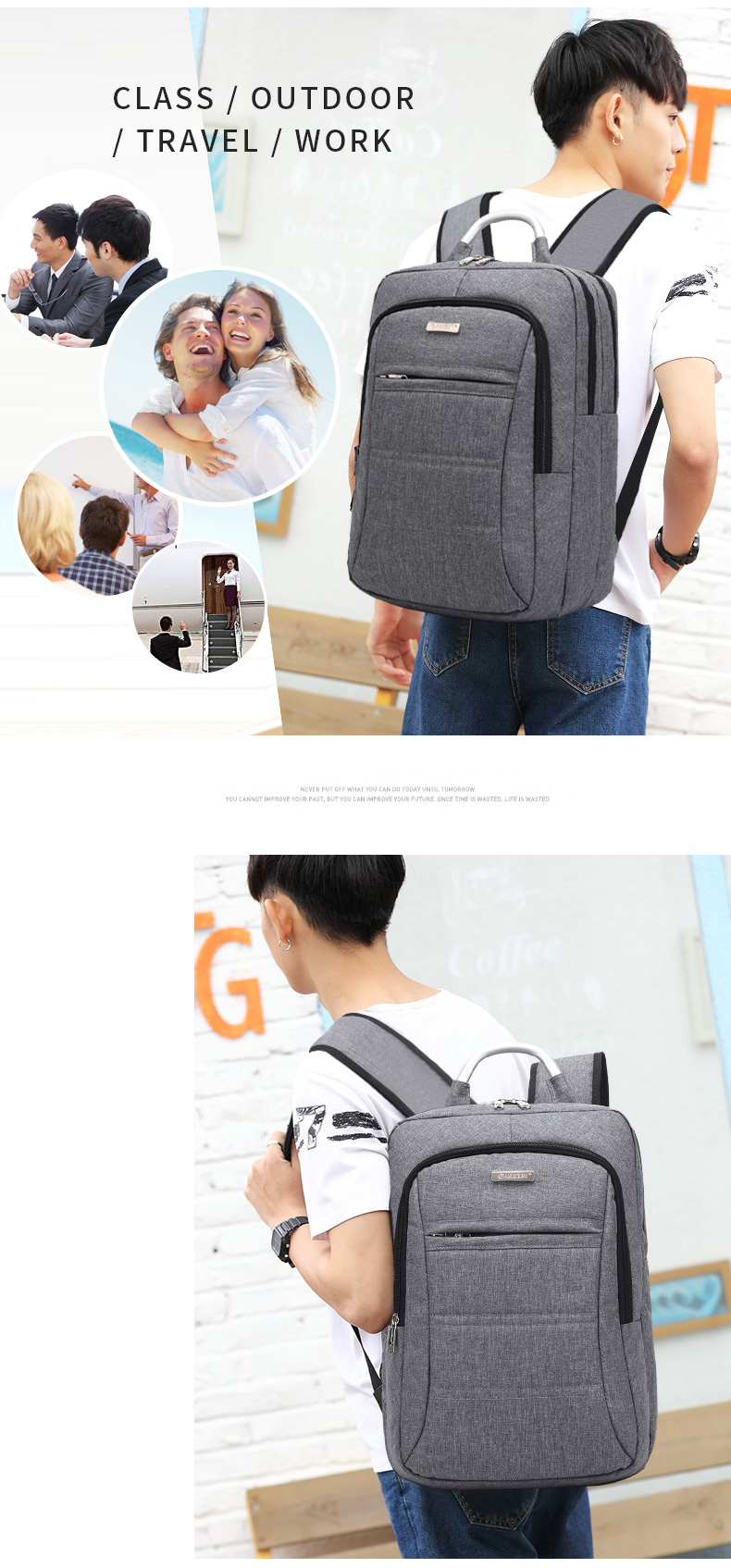 AUGUR Fashion Brand Men Women Backpack Laptop Notebook Travel School College for Teenager Students Bag