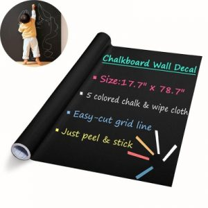 DIY Wall Stickers Removable Washable Chalkboard Blackboard Decals