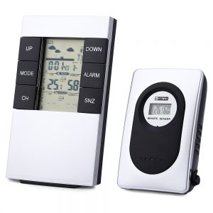 TS – H146 433MHz Wireless Weather Station Alarm Clock Indoor Outdoor Thermometer Humidity
