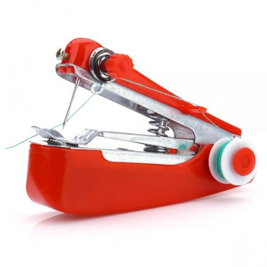 Portable Cordless Mini Hand-held Clothes Fabrics Sewing Machine