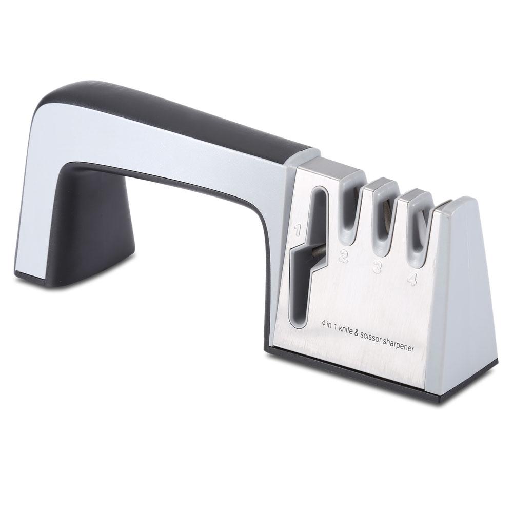 ZHAOLIDA 4 in 1 Stainless Steel Knife Scissor Sharpener