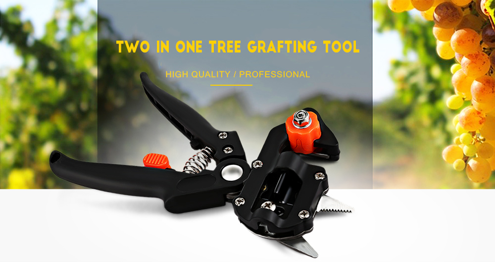 Professional Tree Grafting Tool Garden Cutting Pruner with Two Blades