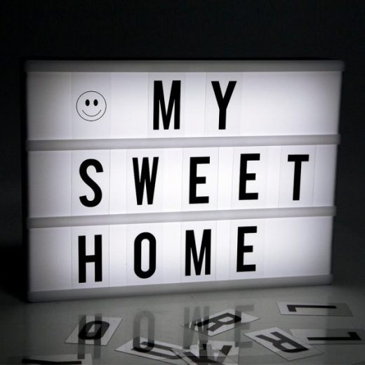 LED DIY Letter Combination Light Box Night Lamp