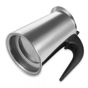 Stovetop Espresso Maker Stainless Steel Moka Coffee Pot 100ml