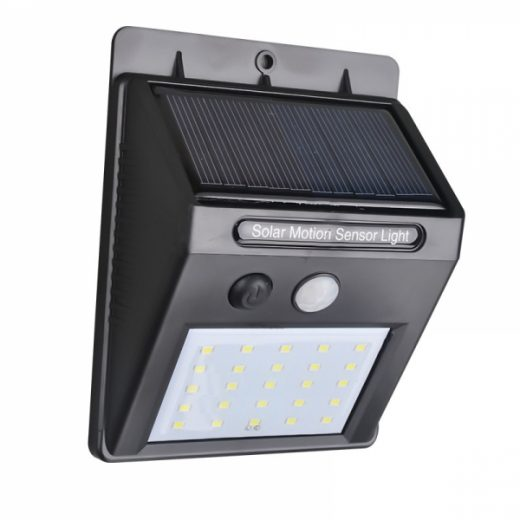 25 LED Solar Powered PIR Motion Sensor Light Outdoor Garden Security Wall Light