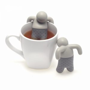 Mr. Tea Infuser Silicone Doll Tea Strainer Filter Gray