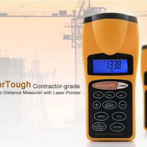 "Ultrasonic Laser Distance Measurer ""SuperTough"" – Up To 18 Meters"